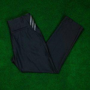 adidas Golf Black w/ Grey 3 Stripe Pant